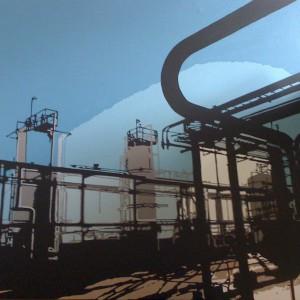 Industriële foto op canvas