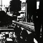 Zwart wit schilderij van foto van metro Kuala Lumpur