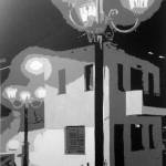 Zwart wit schilderij van foto op Kreta.