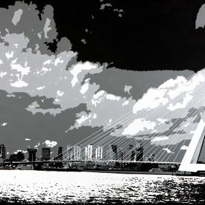 Rotterdam op canvas