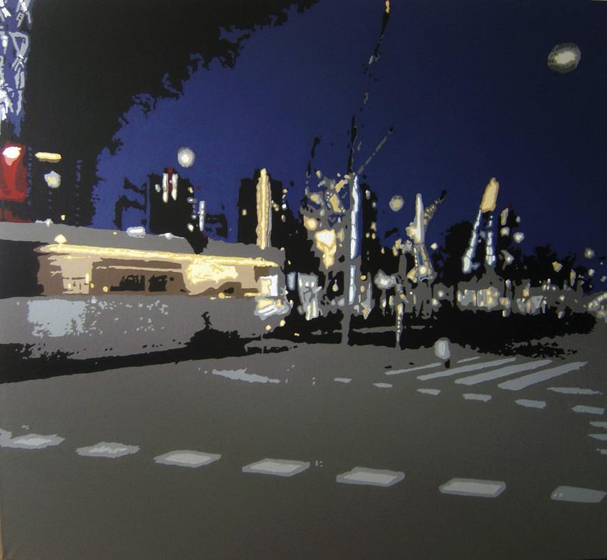 Tram op canvas