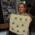 Larissa Beentjes met een eindresultaat