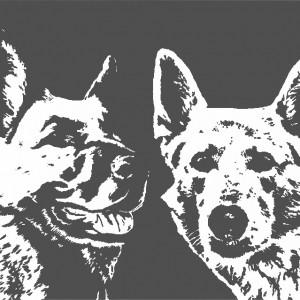 Honden op canvas