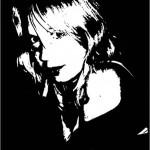 Zwart wit portret van een foto
