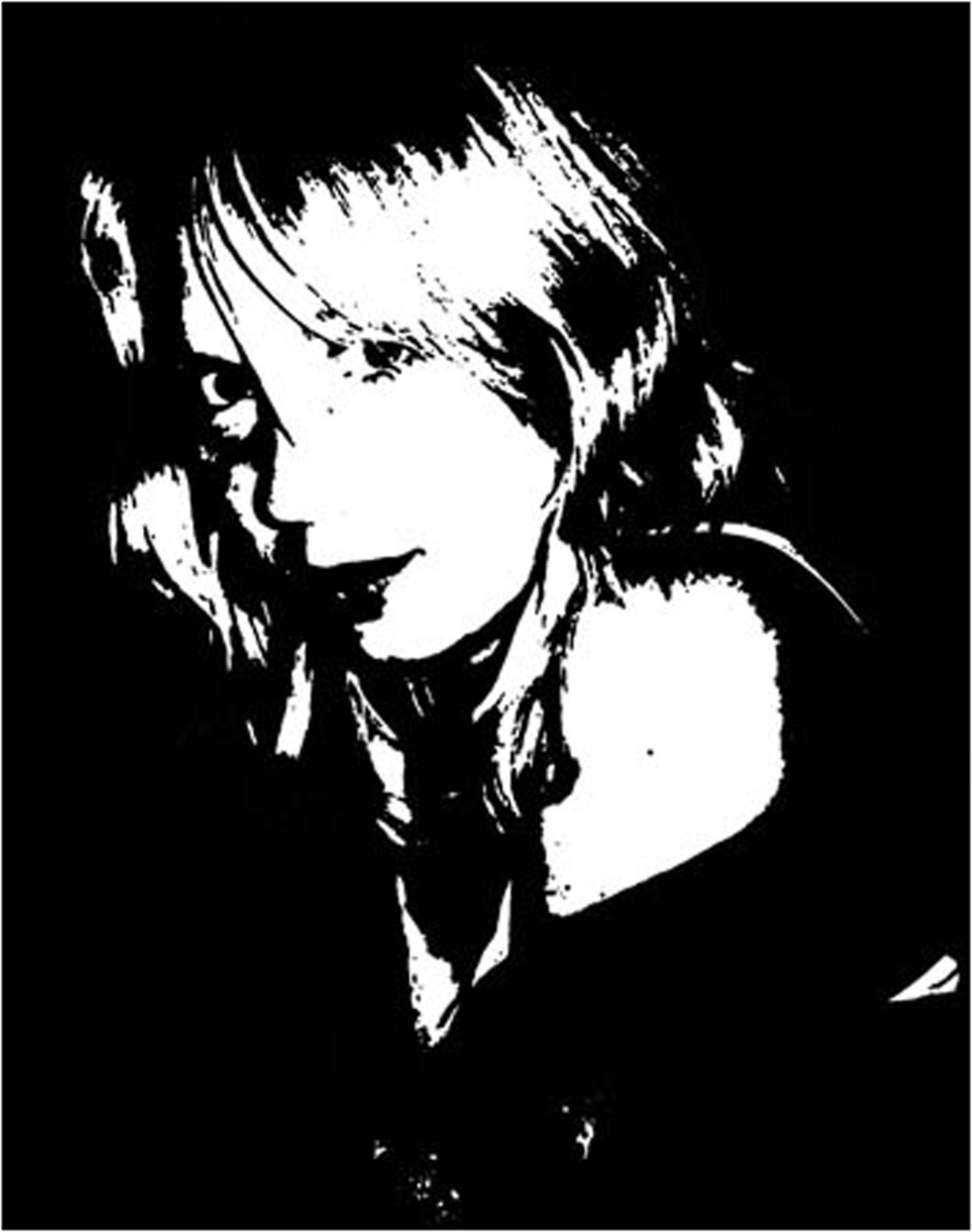 zwart wit foto zeefdruk