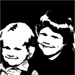 Zwart wit schilderij van een foto
