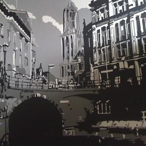 Utrecht op canvas