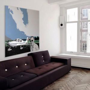 Foto van canvas van Marcel in woning