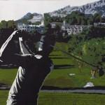 Douwe Altea Club de Golf schilderij bewerkt
