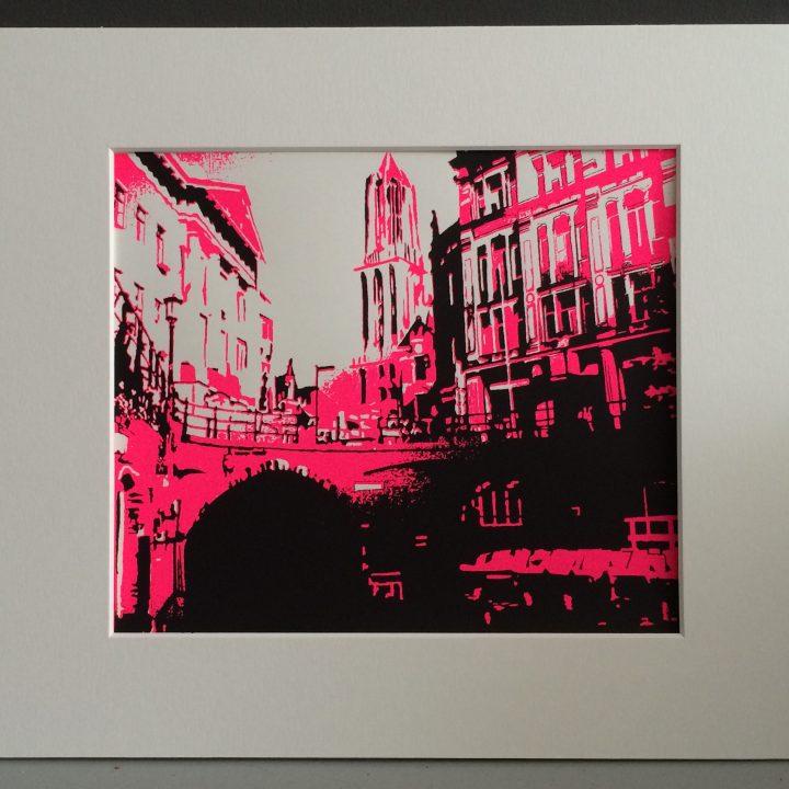 Zeefdruk van Utrecht Roze